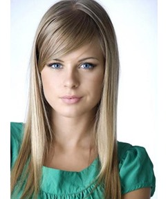 Elegant Medium Silky Capless Remy Human Hair Wig 16 Inches