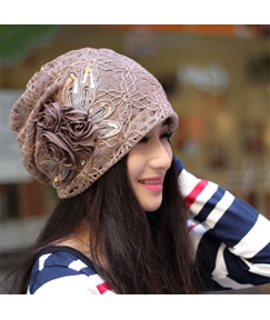 Retro Lace Flower Hat