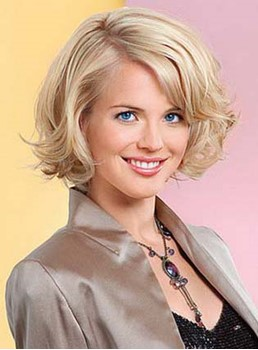 Comfortable Short Loose Wave 100% Remy Human Hair Full Lace Wig 10 Inches