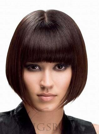Classical Bob Hairstyle Capless Synthetic Wig 10 Inches