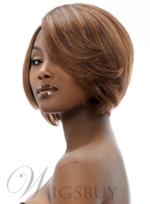 100% Human Hair Short Straight Lace Front Wigs for Black Women 10 Inches