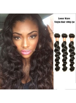 Loose Wave 100% Human Hair Weave 1PC