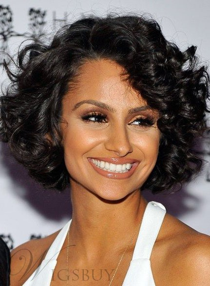Nazanin Mandi Light Wave Black Lace Front Bob Haircut