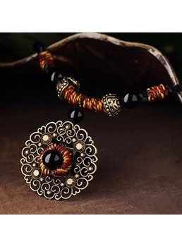 Ethnic Round Pendant Women's Necklace