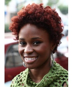 Short Kinky Curly African American 100% Human Hair Full Lace Wigs