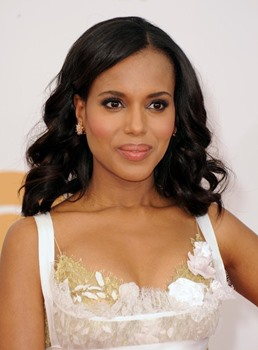 Kerry Washington Body Wave Human Hair Lace Front Wigs 14 Inches