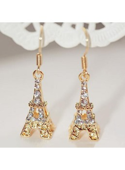 Romantic Diamond Tower Earrings