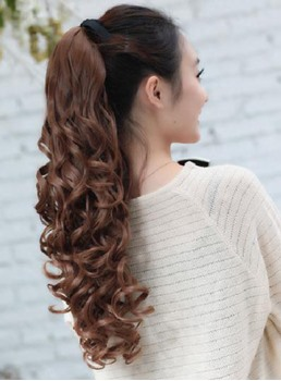 Longtemps Loose Wave synthétique lacets Ponytail