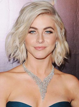 Celebrity Shoulder Length Style Lace Front Granny Human Hair Wig 12 Inches