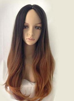 New Fashion Long Loose Wave Gradient Synthetic Wig