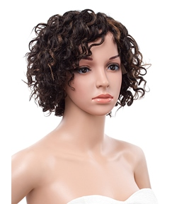 10 Inches Short Curly Lace Front Human Hair Wig