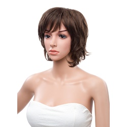 10 Inches Short Layered Straight Bob Synthetic Wig