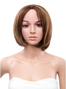 10 Inches Bob Straight Lace Front 100% Human Hair Wig