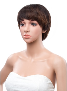 8 Inches Short Straight Capless Human Hair Wig
