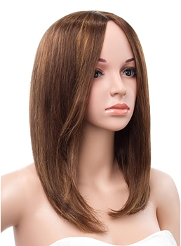 14 Inches Medium Bob Straight Full Lace Human Hair Wig
