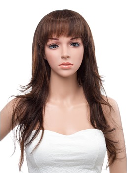 20 Inches Long Layered Straight Capless Human Hair Wig