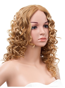 18 Inches Long Curly Lace Front Human Hair Wig