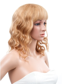 12 Inches Medium Loose Wave Capless Human Hair Wig