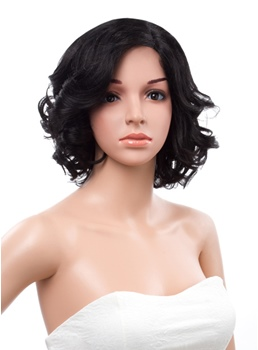 New Arrival Bob Bottom Wave Hairstyle Lace Front Human Hair Wig 12 Inches