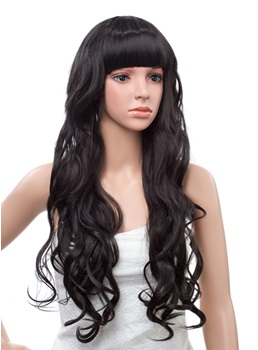 22 Inches Long Natural Wave Capless Synthetic Wig
