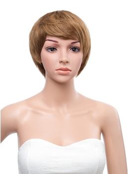 Stylish Short Straight 8 Inches Capless Human Hair Wig