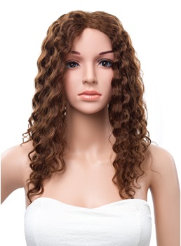 New Arrival 18 Inches Long Curly Lace Front Human Hair Wig