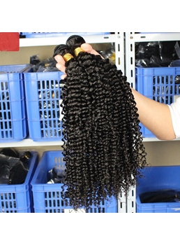 Human Hair Two Tone Curly Deep Curly Hair Weave Extensions 3pcs