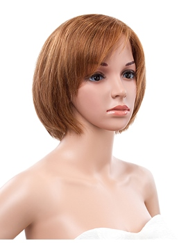 10 Inches Bob Straight Lace Front Human Hair Wig
