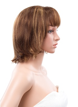 12 Inches Bob Natural Straight Capless Human Hair Wig