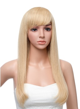 20 Inches Long Straight Capless Human Hair Wig