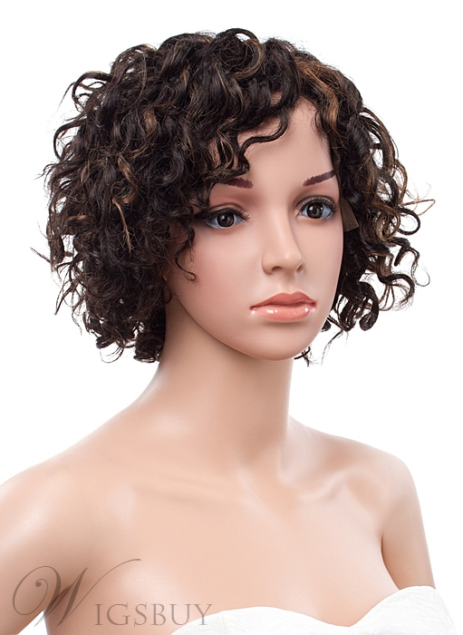 10 Inches Short Curly Lace Front Human Hair Wig Wigsbuy Com