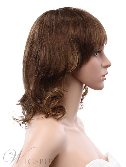 12 Inches Bob Wave Capless Human Hair Wig