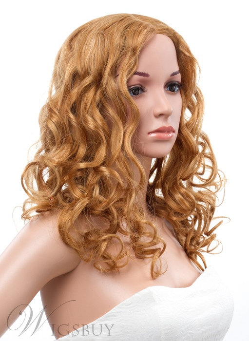 18 Inches Long Curly Lace Front 100% Human Hair Wig