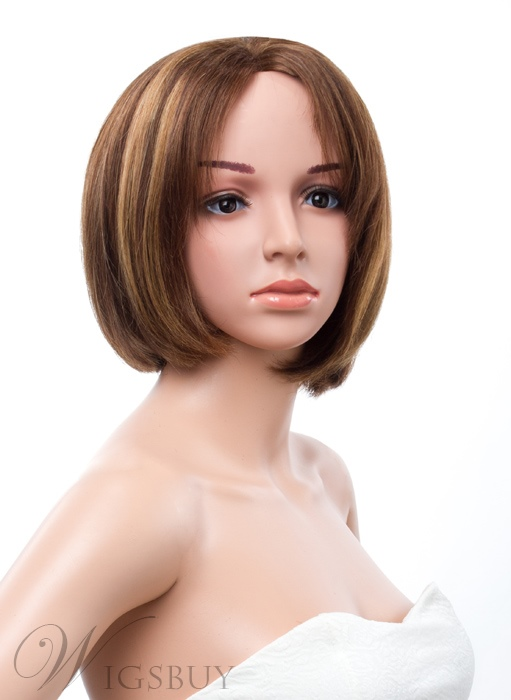 10 Inches Bob Straight Lace Front 100 Human Hair Wig