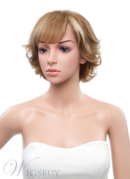 12 Inches Bottom Wave Full Lace Human Hair Wig