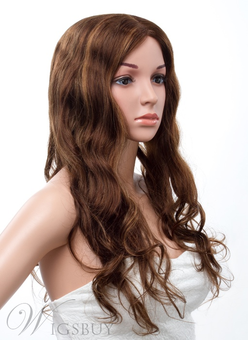 20 Inches Long Loose Wave Lace Front Human Hair Wig