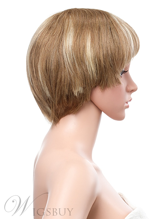 Hot Sale Short Straight Full Lace Human Hair Wig 8 Inches
