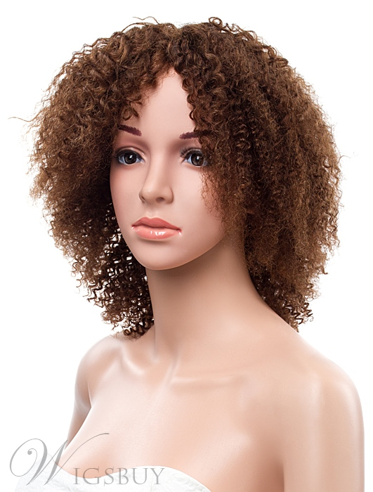16 Inches Kinky Curly Lace Front Human Hair Wig