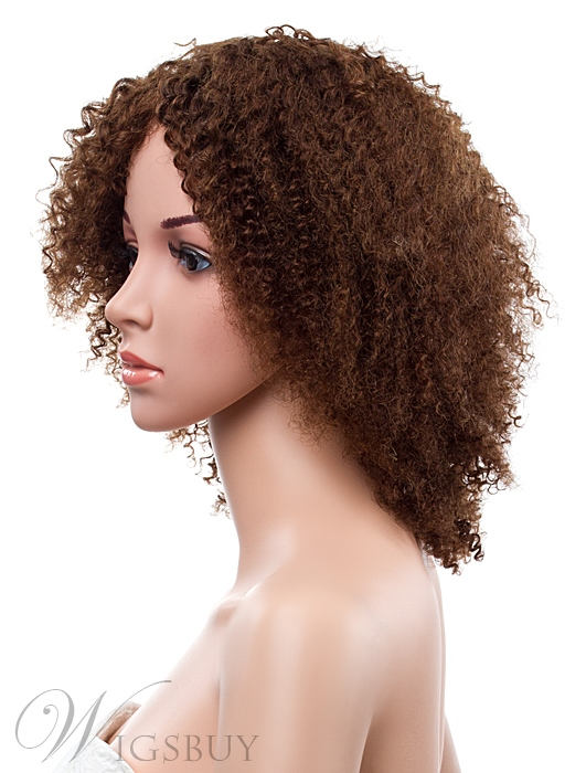 16 Inches Kinky Curly Lace Front Human Hair Wig Wigsbuy Com