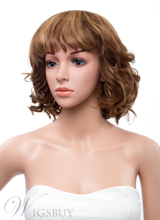 12 Inches Bottom Curly Capless Human Hair Wig