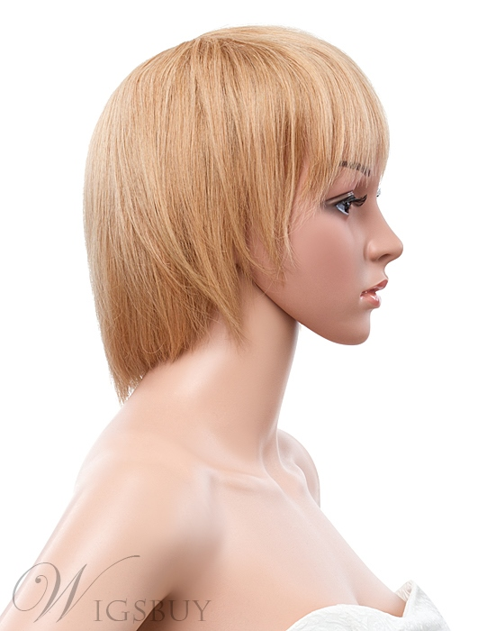 10 Inches Classic Bob Straight Hairstyle Capless Human Hair Wig