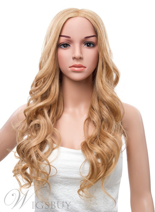22 Inches Gorgeous Long Deep Wave Lace Front Human Hair Wig