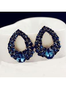 Water Droplets Shape Sapphire Earrings