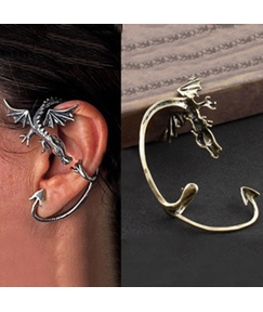 Handsome Dragon with Wings Alloy Ear Cuff