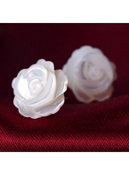 Natural Shell Roses Earrings