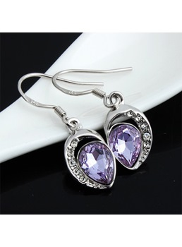 Natural Crystal Pendant Earrings