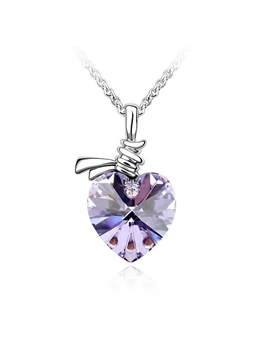 Heart Shaped Crystal Pendant Necklace
