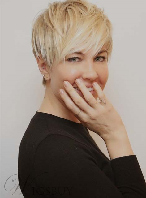 Stylish Cool Short Straight Capless Synthetic Wig 8 Inches