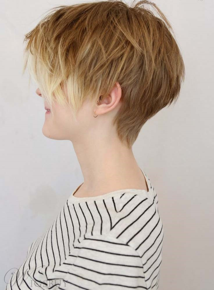 Comfortable Short Layered Straight Full Lace Human Hair Wig