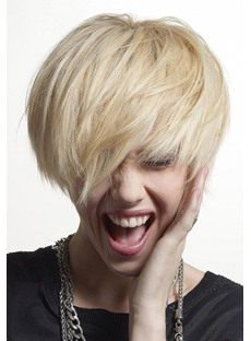 New Trend Short Straight 100% Human Hair Capless Wig 8 Inches